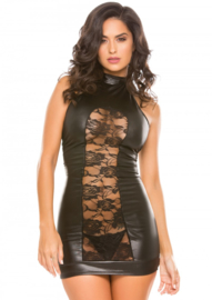 Wetlook Halter Cut Dress