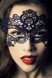 Party Black Lace Mask