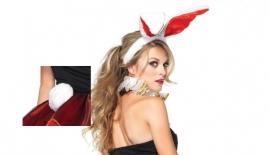 Bunny oren met staart.