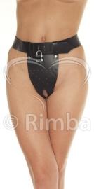 Rimba - Kuisheid slip met twee gaten in het kruis, incl. hangslot