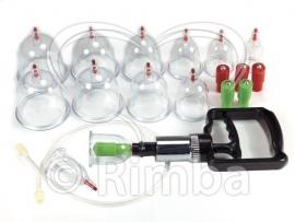 Rimba - Cupping set compleet met 12 cups