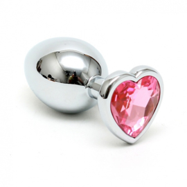 RIMBA - BUTT PLUG SMALL WITH HEARTSHAPED CRISTAL (UNISEX)