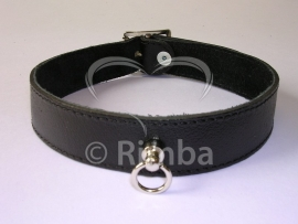 Rimba - Halsband 2.5 cm. breed, glad zonder siernieten