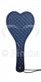 Rimba - Hartvormige flapzweep met stikselversiering aan één zijde