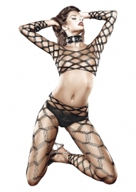 Diamond Net Bodystocking Set Os*