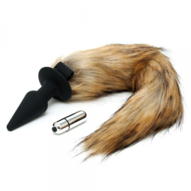 RIMBA - SILICONE BUTT PLUG WITH FOX TAIL