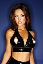 (F086) PVC top with chain applications*