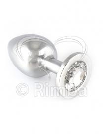 Rimba - Buttplug GROOT met kristal (unisex)