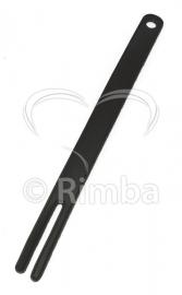 Rimba - Zweep met metaal strip aan binnenzijde ter versteviging