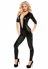 Mesh Catsuit Long Sleeve Black Os*
