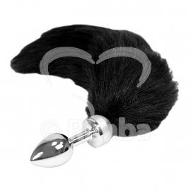 Rimba - Buttplug KLEIN met zwarte staart