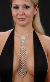 Rhinestone Necktie with Deco