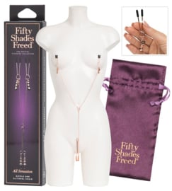 "ALL SENSATION - FSOG ""FREED"" NIPPLE & CLITORAL CHAIN*"