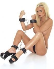 Arm - voetboeien combinatie met ketting