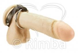 Rimba - Metaal cockring met verwisselbare ring en penis Riemen
