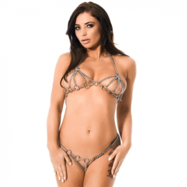 RIMBA - BRA + BRIEFS SET FROM METAL CHAINS