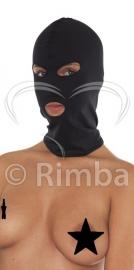 Rimba - Hoofdmasker uit elastische stof met ogen en mond open