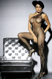 Bodystocking F203 - Obsessive in Zwart of Wit*