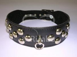 Rimba - Halsband 4 cm. breed, versierd met studs