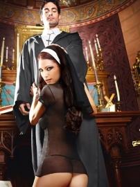 Black nuns habit and bonnet SM ML*