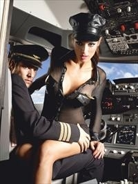 3-piece Black stewardess uniform*