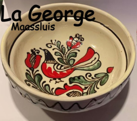 Castron Ceramică de Corund pictat manual Ø  16 cm