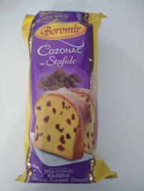 Boromir Cozonac  cu stafide   500 Gr