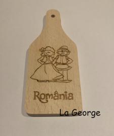 Tocător din lemn personalizat - România