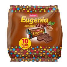Dobrogea   Eugenia Biscuiti Original  cu crema de cacao Familial    10 buc X 36g