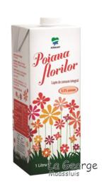 Poiana Florilor lapte pasteurizat integral  3,5% fat  1L