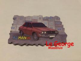Magnet frigider lemn - Dacia 1310  9,7 X 6 cm