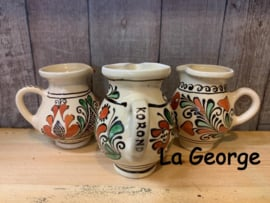Cană ceramică de Corund pictat manual