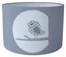 Kinderlamp vogel grijs
