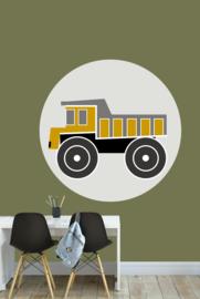 behangcirkel kiepwagen oker