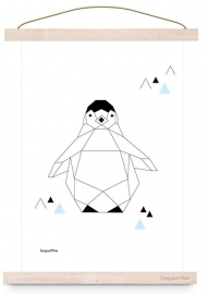 poster geometric pinquin