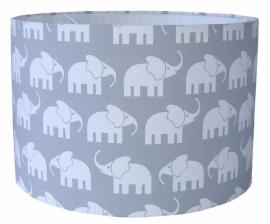Kinderlamp olifantjes grijs