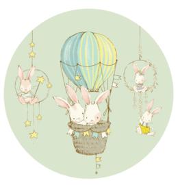 behangcirkel konijntjes