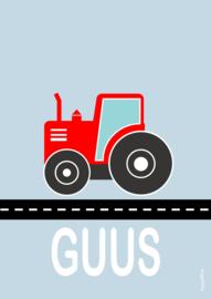 Poster tractor met naam