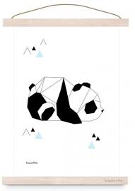 poster geometric panda
