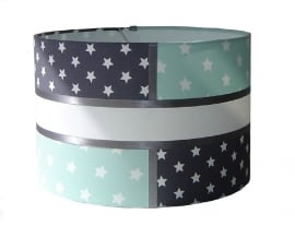 kinderlamp stars mint en grijs