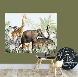behangpaneel jungle parade 180 x 140 cm