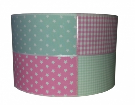 Kinderlamp minty pink
