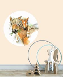 behangcirkel paard met veulen
