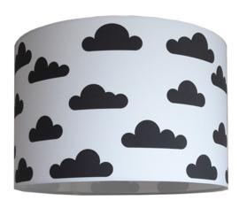 kinderlamp wolk zwart wit