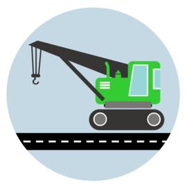 behangcirkel kraanwagen groen
