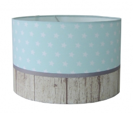 kinderlamp stars mint & wood