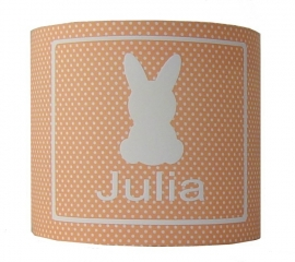 Kinderlamp met naam konijntje julia