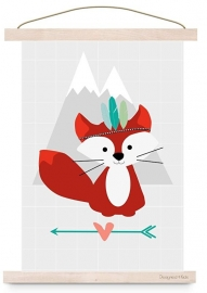 poster indian fox