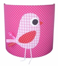 Wandlamp vogel roze