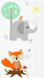 Groei Meter Poster Lovely Animal